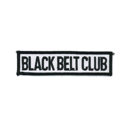 "1263 Black Belt Club Patch 4""W"