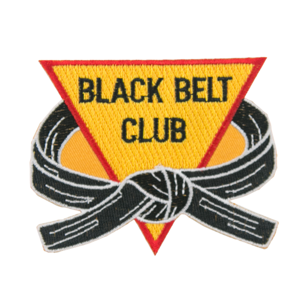 1316 Black Belt Club Patch 3.5""