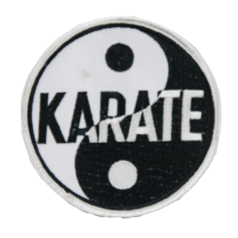 1321 Karate Yin Yang Patch 3.5""