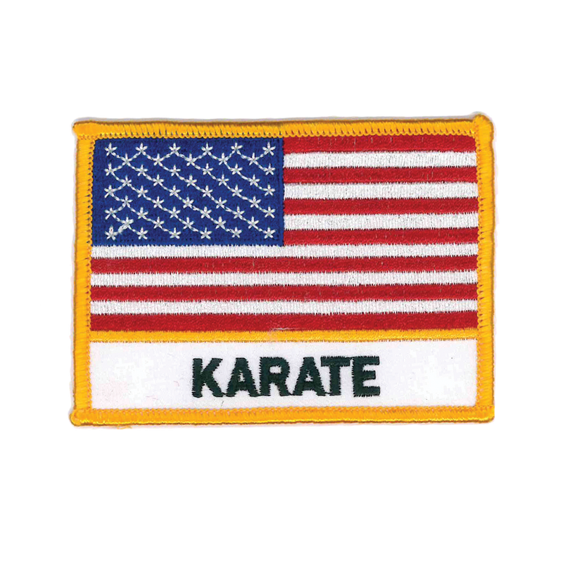 "1334 USA Karate Flag Patch 4""W"