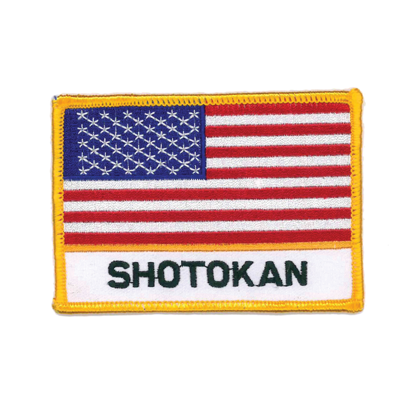 "1337 Shotokan USA Flag Patch 4""W"