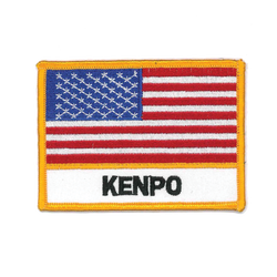 "1342 USA Flag Kenpo Patch 4""W"