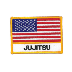 "1343 US Flag Jiu Jitsu Patch 4""W"