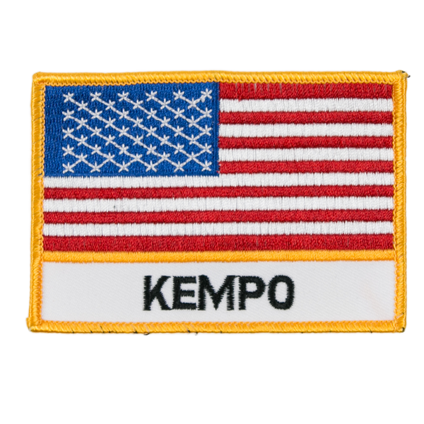 "1345 USA Kempo Flag Patch 4""W"