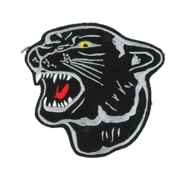 1351 Panther Head Patch 4""