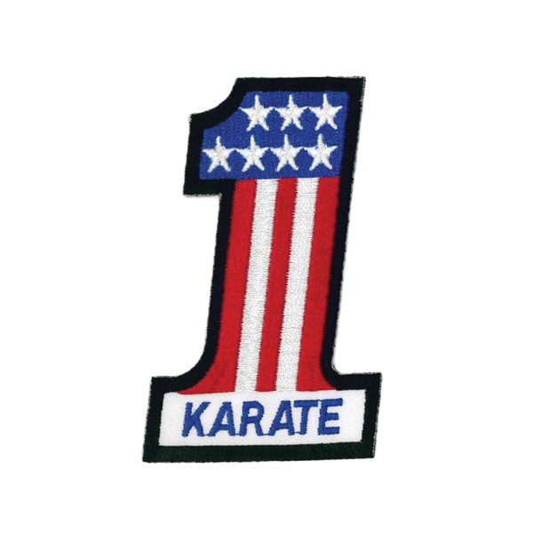 "1367 Karate #1 Flag Patch 4""H"