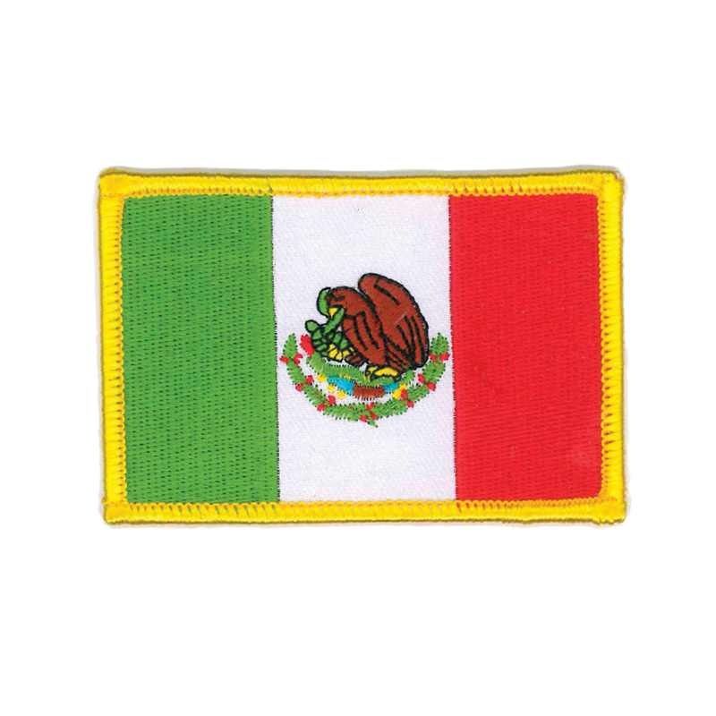 "1413 Mexican Flag Patch 3.5""W"