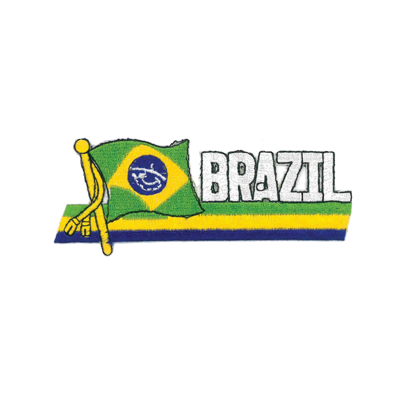 "1416 Brazil Flag Patch 4.5""W"