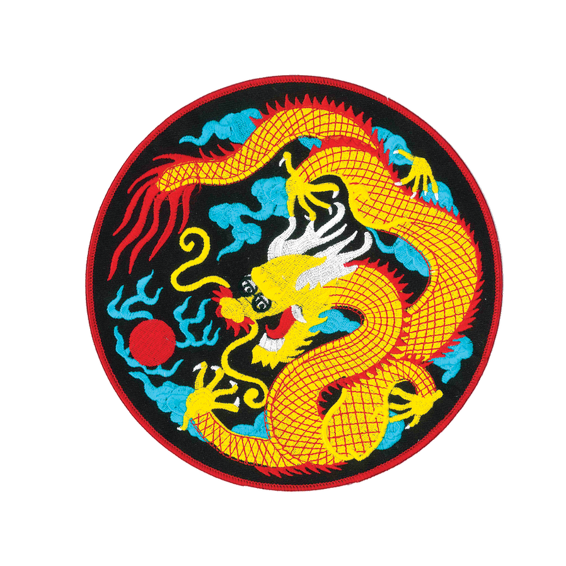 1417 Blue Cloud Dragon Patch 8""