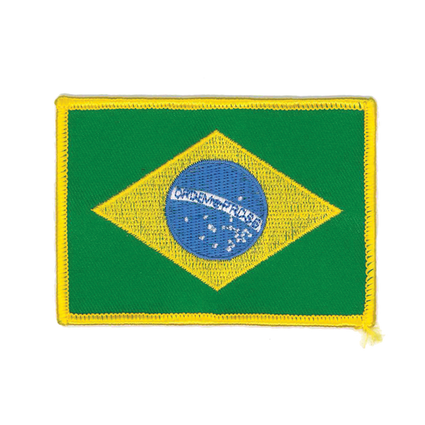 "1419 Brazilian Flag Patch 3.5""W"