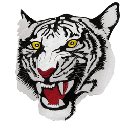 1421 White Tiger Patch 10""