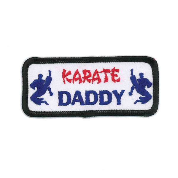 "1439 Karate Daddy Patch 3.5""W"