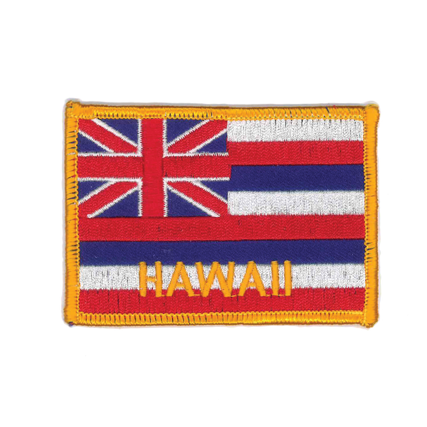 "1444 Hawaii Flag Patch 3.5""W"