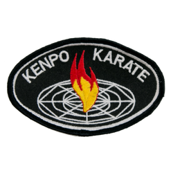 "1455 Black Kenpo Karate Patch 4""W"