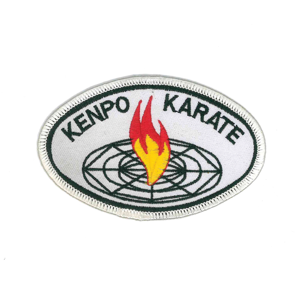 "1456 Kenpo Karate White Patch 4""W"