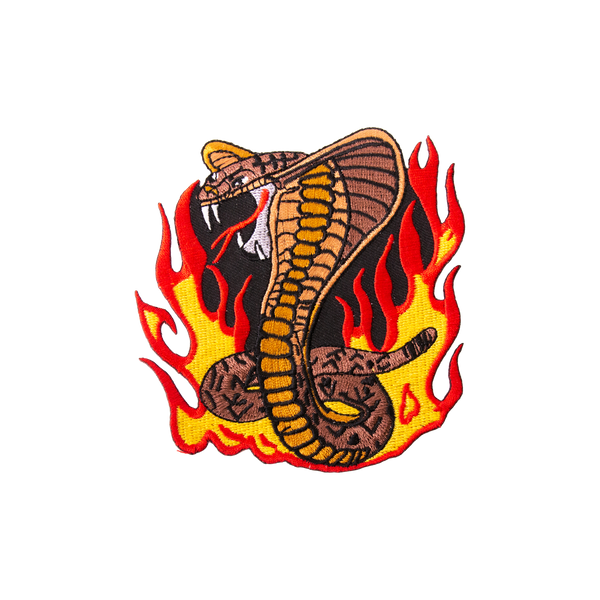 "1674 Snake Flame Patch 4""H"