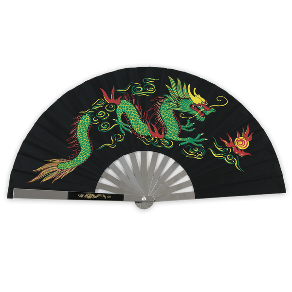 Chinese Steel Dragon Fan