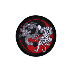 Dragon vs. Tiger Ying Yang Patch