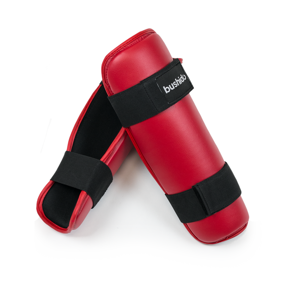 Flextuf Red Shin Guard