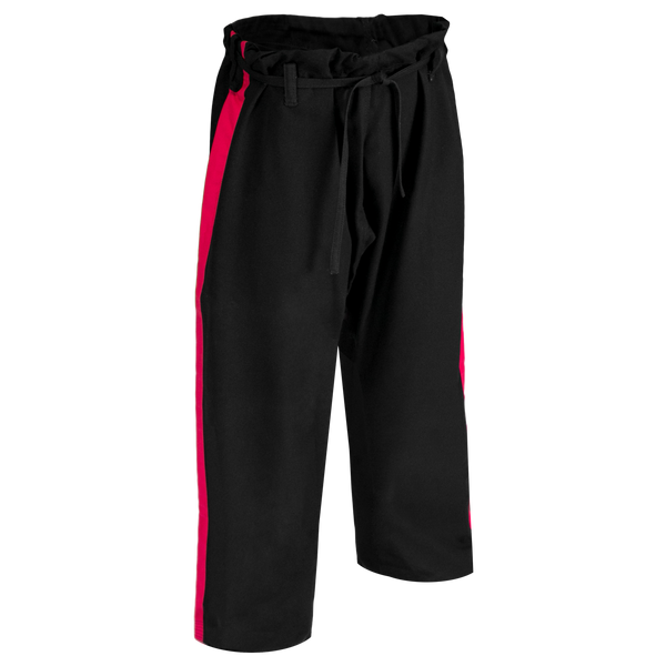 14oz Black Heavyweight Pants with Red Stripe