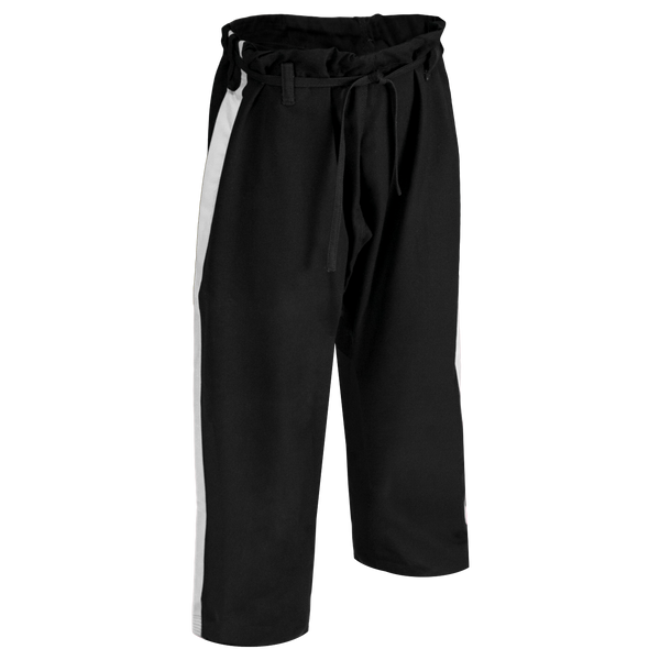 14oz Black Heavyweight Pants with White Stripe