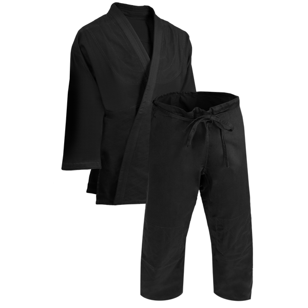 Judo Black Single Weave Uniform