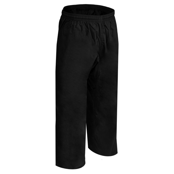 8.5oz Black Middleweight Pants