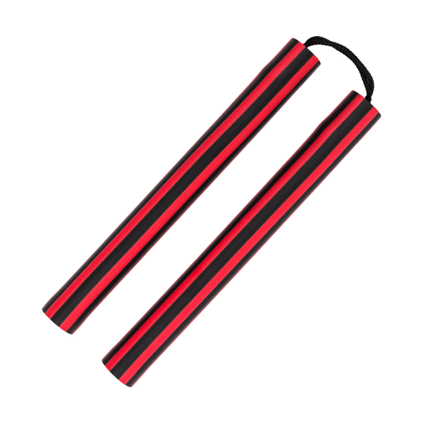 Stripe Foam Nunchaku with Cord