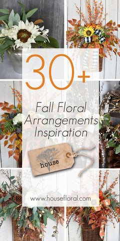 fall floral arrangement inspiration diy