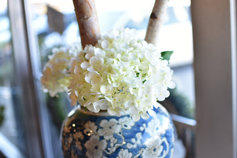 diy step by step faux floral arrangement tulips hydrangeas