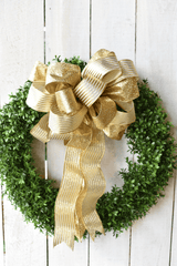 "2.5""x10yd Gold Glitter Lame Ribbon"