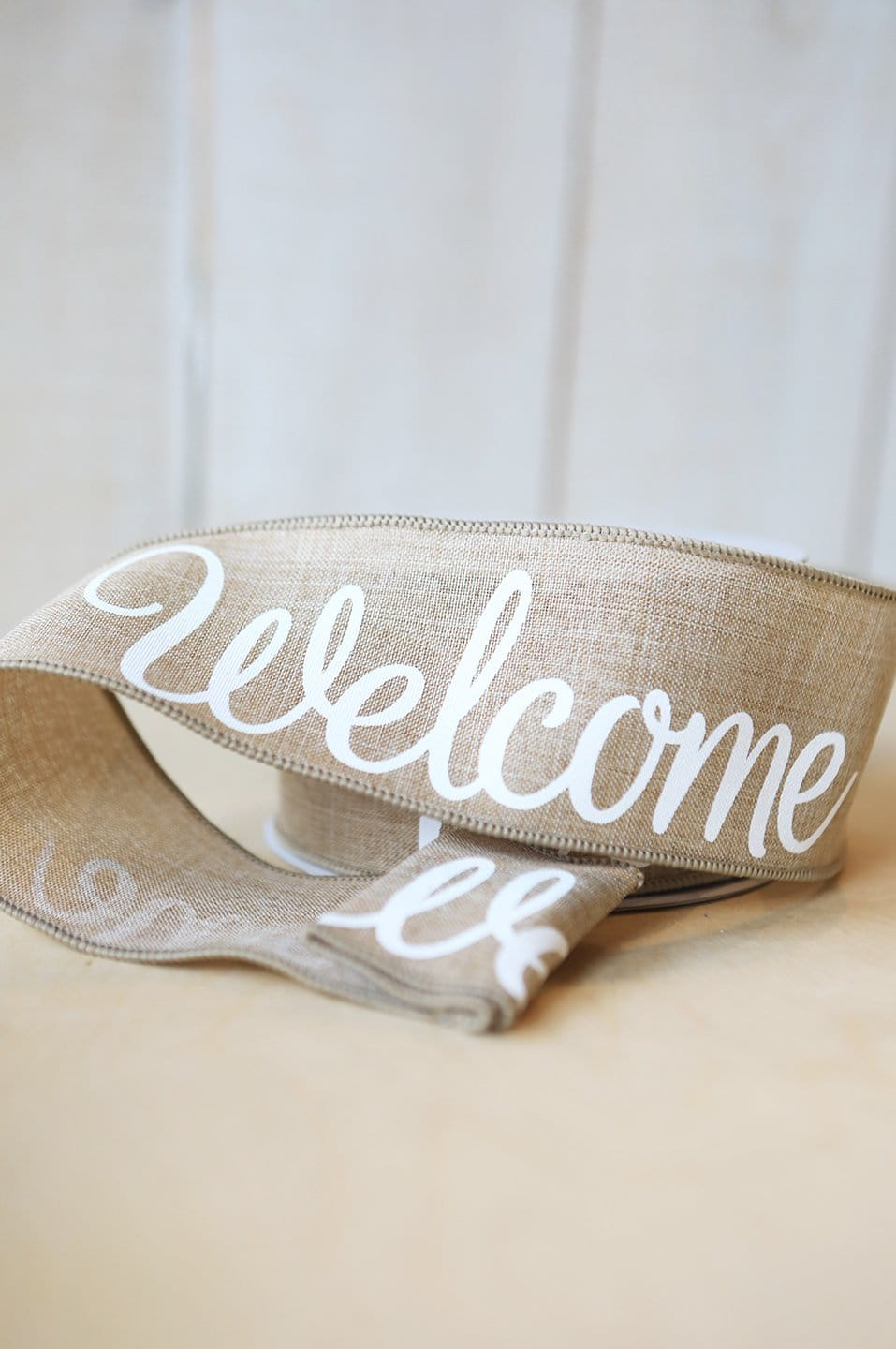 Flax Color Welcome Ribbon