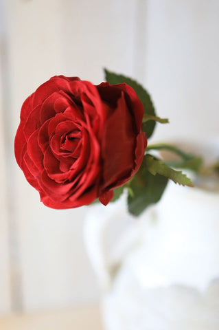 "22"" Red Large Rose Bud Spray"