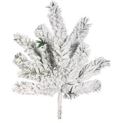 "18"" Flocked Pine Spray"