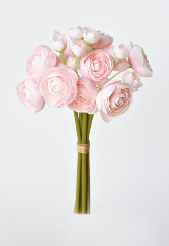 "13"" Blush Ranunculus Stem"