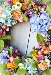 "13"" Faux Mini Ranunculus Bush Green"