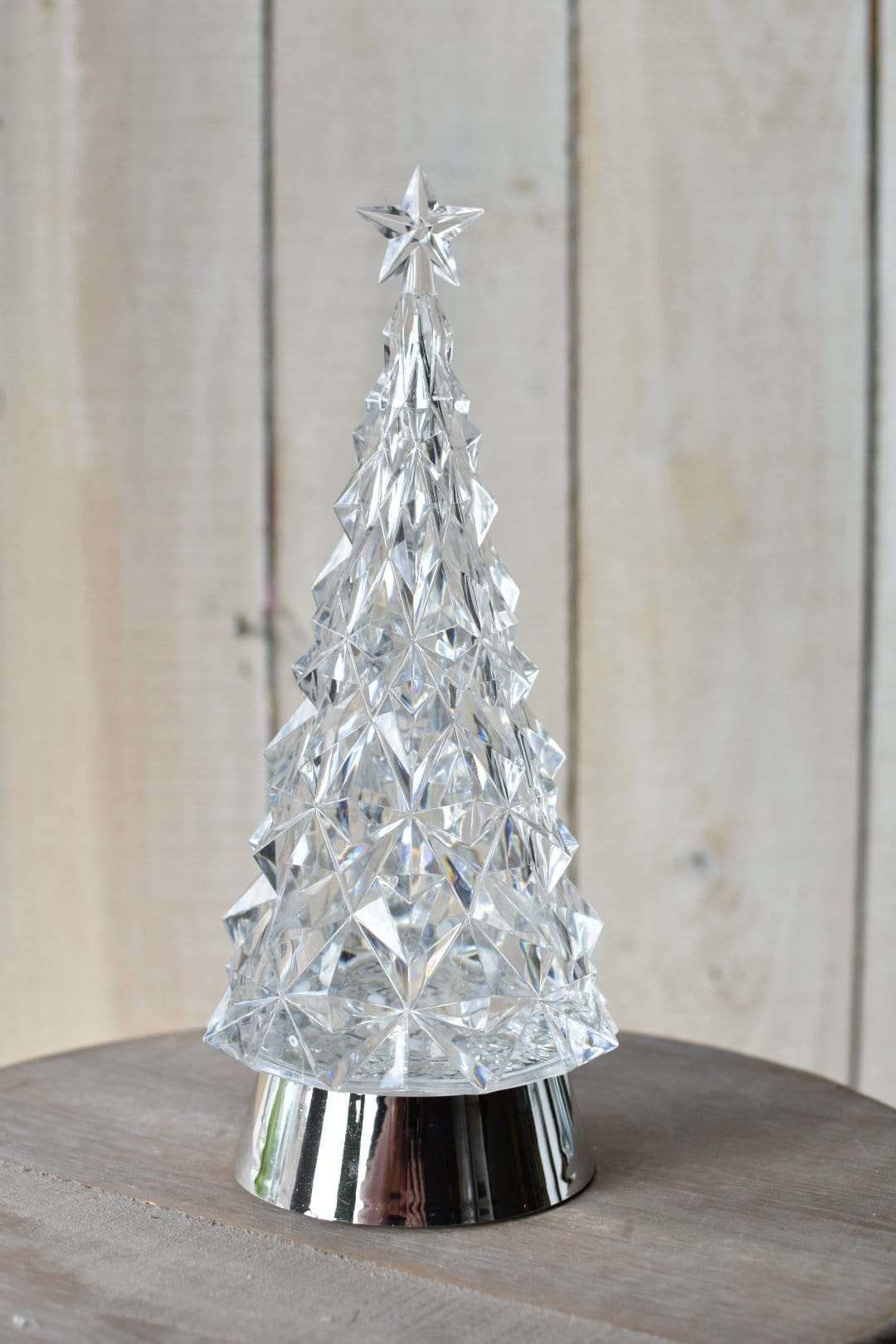 "11"" LED Swirl Tree with Star Glitterdome"