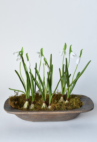 "25""  Faux Helleborus Spray Pink/Green"