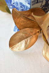 "11"" Faux Gold Metallic Magnolia Leaf"