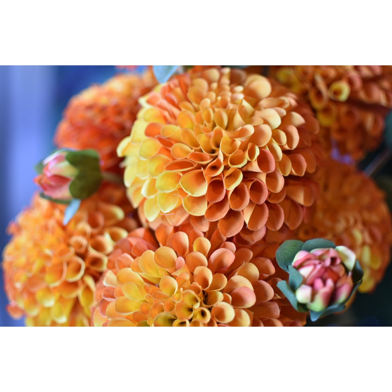 "31"" Dahlia Spray Orange Yellow"