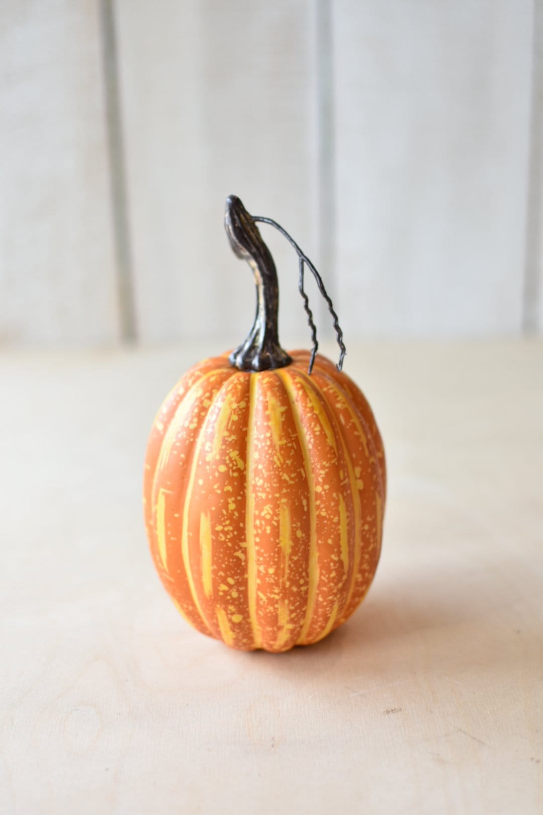 Small Faux Orange Pumpkin