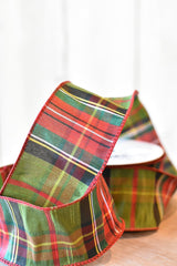 "2.5""x10yd Classic Plaid Ribbon"