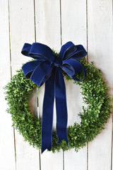 "2.5""x10yd Outdoor Velvet Ribbon- Navy"
