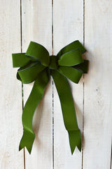 "2.5""x10yd Outdoor Velvet Ribbon- Hunter Green"
