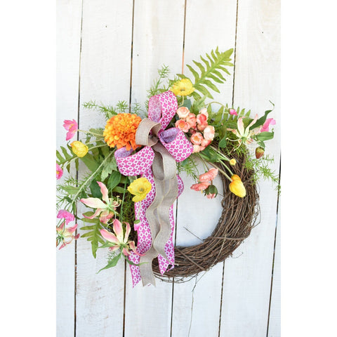 Shades of Sherbet Wreath