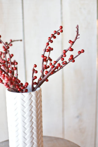 "16"" Faux Ilex Berry Stem"