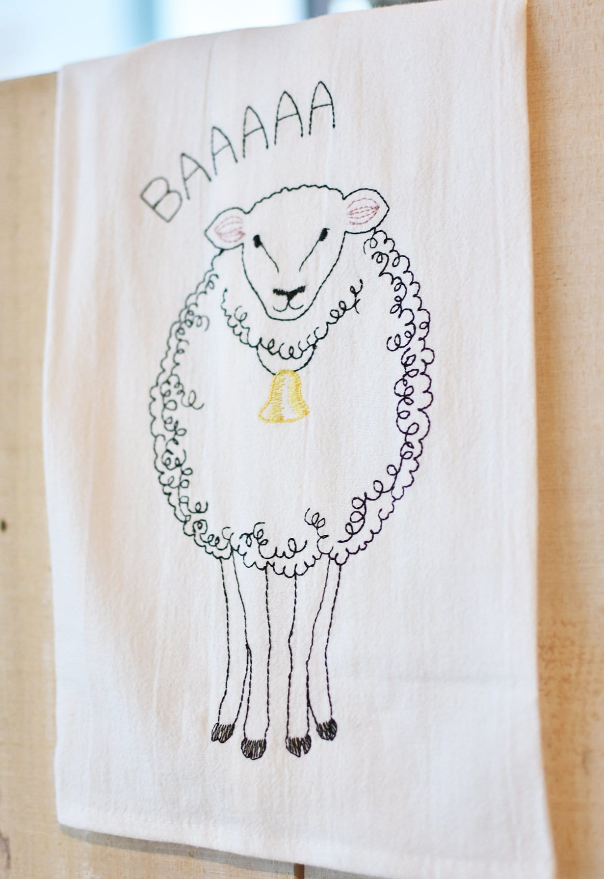 Sheep Flour Sack Towel