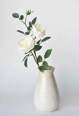 "26"" Faux Hydrangea Spray White"