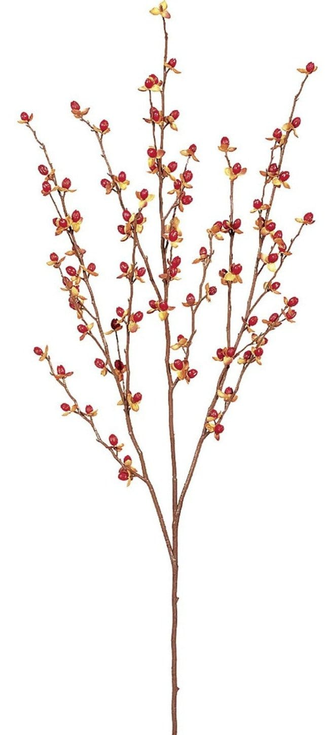 faux bittersweet berry stem berries spray fall decor artificial