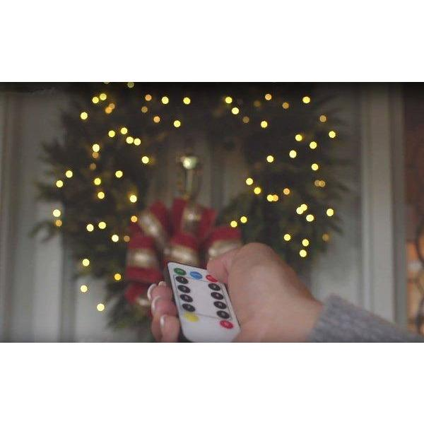 ELECTRIC LED Warm White Cluster Light Garland, w/Timer and Remote